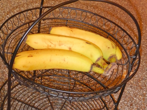 Bananas on Kitchen Counter