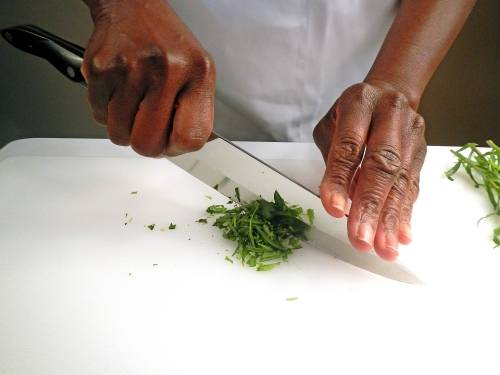 georgia-chopping tarragon2