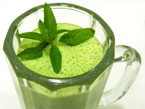 Try a Banana Kale Smoothie - tastes minty and refreshing!