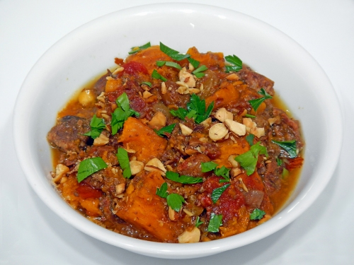 Moroccan Beef and Sweet Potato Stew (slow cooker recipe)