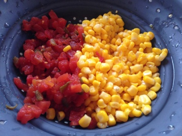 Drained Diced Tomatoes & Corn