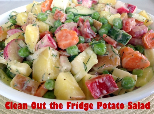 Clean Out the Fridge Potato Salad